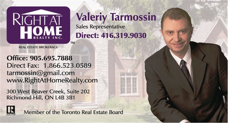 Valeriy Tarmossin. Real Estate agent.